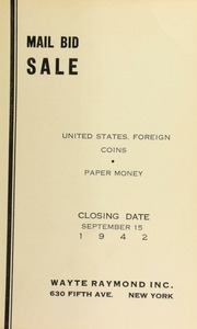Mail bid sale : United States, foreign coins, paper money. [09/15/1942]