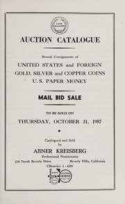 Mail Bid Sale: United States and Foreign Gold, Silver, and Copper Coins, U.S. Paper Money