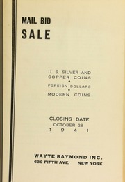 Mail bid sale : U.S. silver and copper coins, foreign dollars, modern coins. [10/28/1941]