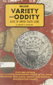 Major Variety - Oddity Guide of United States Coins