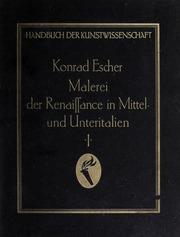Vol v.1 pt.1: Malerei der Renaissance in Italien