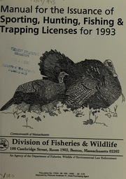 Manual for the issuance of sporting hunting fishing and for Mass fish and wildlife
