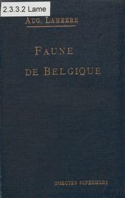 Vol 3: Manuel de la faune de Belgique