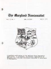 The Maryland Numismatist: 1975