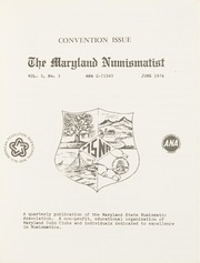 The Maryland Numismatist: 1976