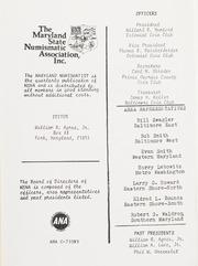 The Maryland Numismatist: 1982