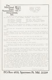 The Maryland Numismatist: 1985