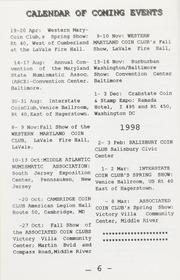 The Maryland Numismatist: 1997