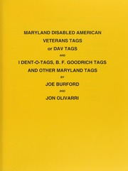 Maryland Disabled American Veterans Tags