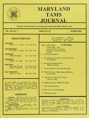 Maryland TAMS Journal, Vol. 21, No. 1 (83)