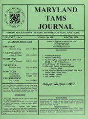 Maryland TAMS Journal, Vol. 27, No. 4 (110)