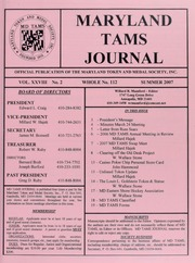 Maryland TAMS Journal, Vol. 28, No. 2 (112)