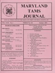 Maryland TAMS Journal, Vol. 31, No. 2 (124)
