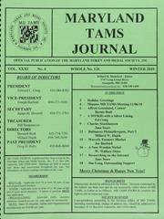 Maryland TAMS Journal, Vol. 31, No. 4 (126)