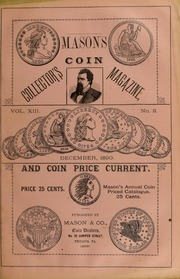Mason's Coin Collector's Magazine and Coin Price Current, Vol. 13, No. 3