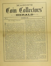 Mason's Coin Collector's Herald, Vol. 1, No. 3