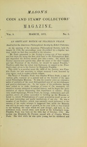 Mason's Monthly Coin and Stamp Collector's Magazine, Vol. 5, No. 3