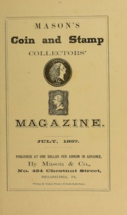 Mason's Coin and Stamp Collector's Magazine, Vol. 1, No. 4
