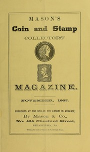 Mason's Coin and Stamp Collector's Magazine, Vol. 1, No. 8