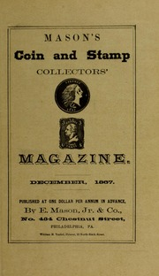 Mason's Coin and Stamp Collector's Magazine, Vol. 1, No. 9