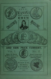 Mason's Monthly Illus. Coin Collector's Magazine & Coin Price Current, Vol.I, No. 2