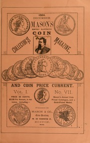 Mason's Monthly Illus. Coin Collector's Magazine & Coin Price Current, Vol.I, No. 7