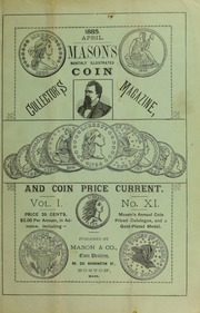 Mason's Monthly Illus. Coin Collector's Magazine & Coin Price Current, Vol.I, No. 11