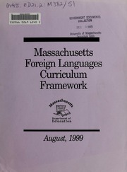 Massachusetts foreign languages curriculum framework