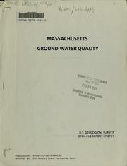 Massachusetts ground-water quality