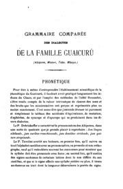 Vol 23: Matériaux pour servir à l-établissement d-une grammaire comparée des dialectes de la famille guaicurú : (abipone, mocovi, toba, mbaya)