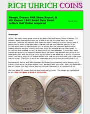 May 2012 - Newps, ANA Show Report  & 4th Known 1842 Small Date, Small Letters Half Dollar Acquired