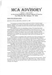 MCA Advisory (March 2000) (pg. 1)
