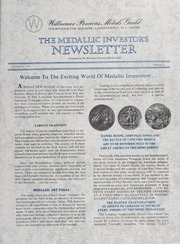 The Medallic Investor's Newsletter: Vol. 1