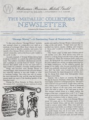 The Medallic Investor's Newsletter: September 1972