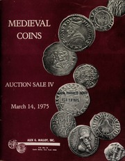 Medieval coins : auction sale IV. [03/14/1975]