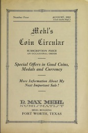 Mehl's Coin Circular, Vol. 4: Special Offers in Good Coins, Medals and Currency