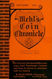 Mehl's Coin Circular: This Circular Lists Special Offers, New Issues, Brief Numismatic Comment and Items of Interest in Connection With My Business