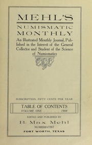 Picture of Mehl's Numismatic Monthly