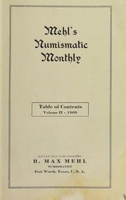Mehl's Numismatic Monthly (vol. 2 )