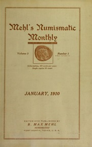 Mehl's Numismatic Monthly (vol. 3 )