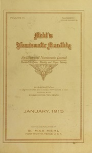 Mehl's Numismatic Monthly (vol. 6)