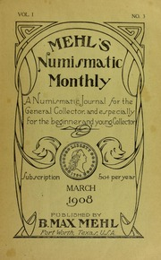 Mehl's Numismatic Monthly (vol. 1, no. 3)