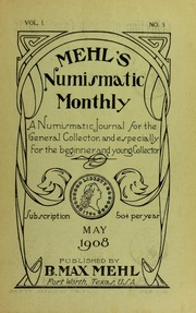 Mehl's Numismatic Monthly (vol. 1, no. 5)