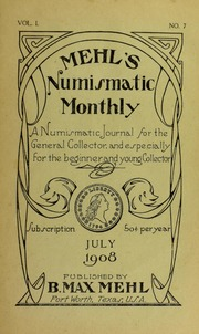 Mehl's Numismatic Monthly (vol. 1, no. 7)