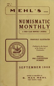 Mehl's Numismatic Monthly (vol. 1, no. 9)