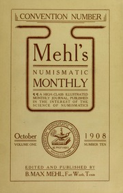 Mehl's Numismatic Monthly (vol. 1, no. 10)