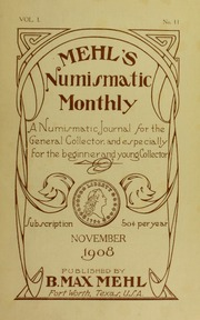Mehl's Numismatic Monthly (vol. 1, no. 11)