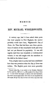 the day of the doom michael wigglesworth Michael wigglesworth (1631-1705) michael wigglesworth graduated from harvard college in 1651, and was a fellow and tutor in the college from 1652 to 1654, as he continued his studies toward.