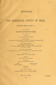 geological survey of nainital india Records of the geological survey of india, 1932 a collection of scientific papers by geological survey of india volume 16.