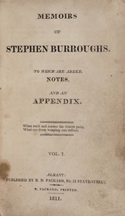 Memoirs of Stephen Borroughs: Vol. I